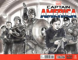 Captain America Agent Carter Sketch Cover by timshinn73