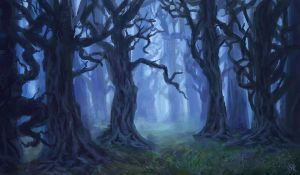 Foggy Forest by Dreamin-Lea