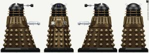 Time War Dalek Emperor's Guard by Librarian-bot