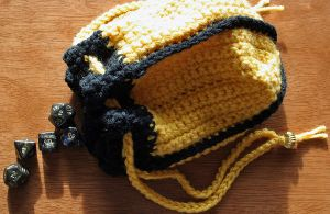 Hufflepuff Dice Bag FOR SALE by ArielManx