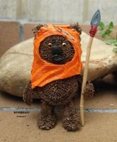 Ewok of paper by sombra33