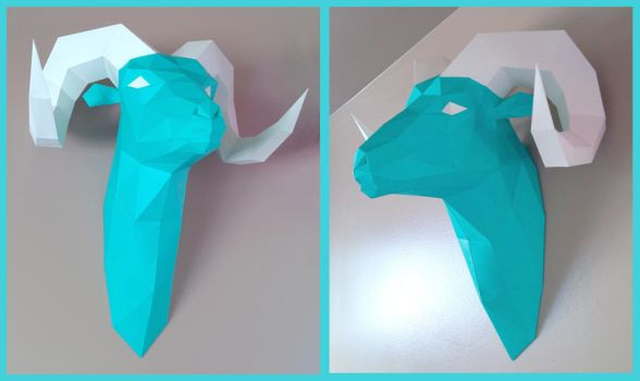 Ram's Head Papercraft by Gedelgo