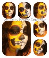 Two faced sugar skull by MzChrisCreatez