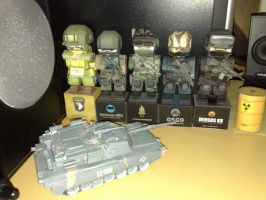 Paper Soldiers Papercraft by Mironius
