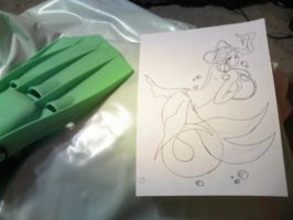 WIP Mermaid Tail by Wrayth-Pariah