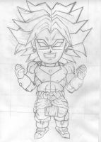 Chibi Broly (Pencil) by cheygipe