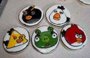 Angry Birds Sugar Cookies by picworth1000wrds