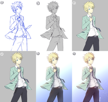 Yamato (STEP BY STEP + Coloring Video) by Hananon