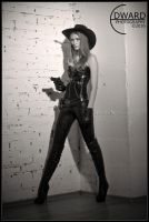 Cowgirl with gun by Edward-Photography