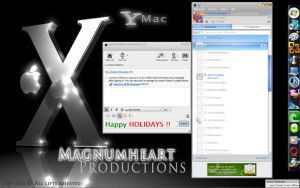 YM Themes : Mac OSX Aqua Skin by MAGNUMHEARTED