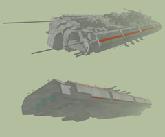 Combat Frigate by MSgtHaas