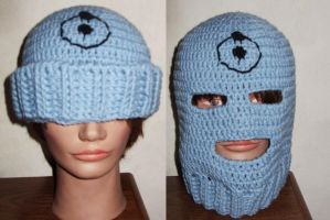 Dr Manhattan convertible mask by Sugarcoatidli3z