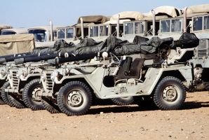 Saudi M151 vehicles with recoilless rifles by saudi6666