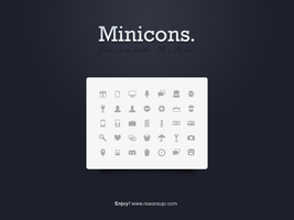 FREE 30 Mini Icons by noearaujo