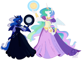 The Princess and The Queen by Thomisus