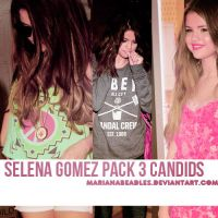 +Pack Candids Selena Gomez (Parte 1) by MarianaBeadles