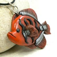 Flame Angelfish by DesertRubble