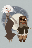 finn and nudge by owl-bones