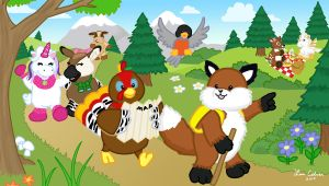Webkinz on a Hike by LMColver