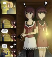 Mio and Mayu... and Regioster by Student1239