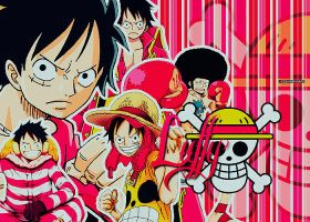Luffy Collage by SkywalkerBlue