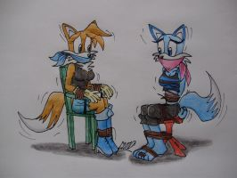 Two vixens by Levvvar