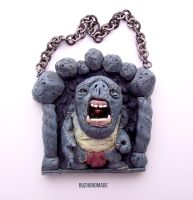 CAVE TROLL - Wall Art - Polymer Clay by buzhandmade