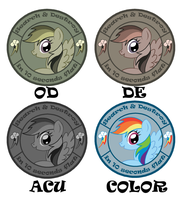 S and D Rainbow Dash Patches Design by sudro