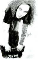 Ville Valo on Chair - Finished by razorblade00KiSS