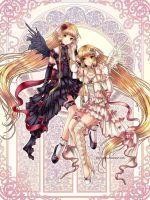 Chobits: Chii and Freya by clayscence