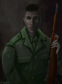 WWII Soldier by shaunamobley