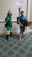holiday matsuri link and his bard by kingofthedededes73