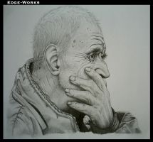 'old man' portrait - final by Edge-Works