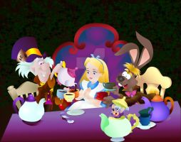 Alice in Wonderland by Fullmoon-rose