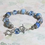 Blue Agate Star of David Bracelet by FancyHeartDesigns