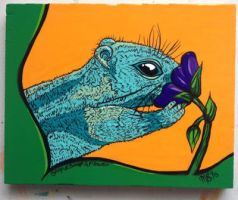 Chipmunk or Stop and Smell A Flower by MonoAndME