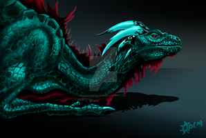 -Emerald Dragon by OlgaMerkulova