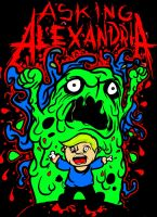 Asking Alexandria Goo Man Pop Art by zombis-cannibal