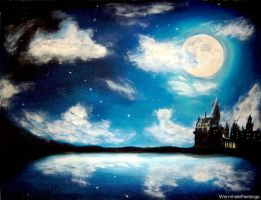 Hogwarts by night... by WormholePaintings