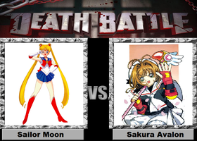 Death Battle idea Sailor Moon vs Sakura Avalon by kingdomofsantiago1