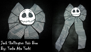 Jack Skellington Hair Bow by TashaAkaTachi