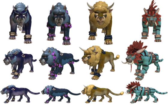 Spore Creature: Druid Cat forms (WoW) by Evilution90