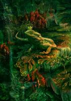 The mistress of the emerald cave by Poglazovs
