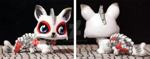 Japanese koi inspired water dragon LPS custom by pia-chu