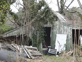 Old Shed Art by Ox3ArtStock