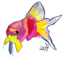 Fish water colour by Lewis-H