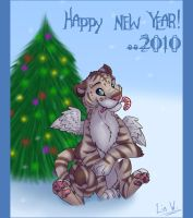 :new year 2010: by L1nWerewolfess