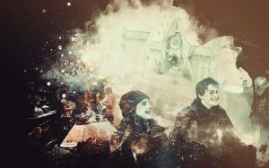 Merry Christmas :) HP wallpaper by Sacrilence