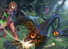 Original Samus Vs Something by tomgiest