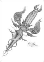 dagger tattoo design 2 by JOVictory